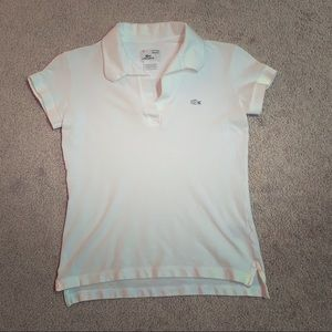 Lacoste Tops - Vintage Washed Lacoste White Polo - NWOT
